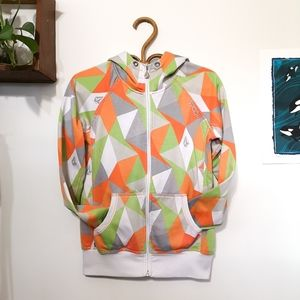 Volcom Neon Geometric Colour Block Hoodie